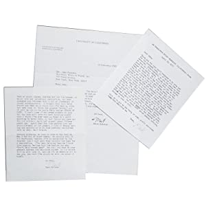 Three Typed Letters, signed (