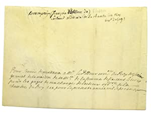 Manuscript document signed on verso