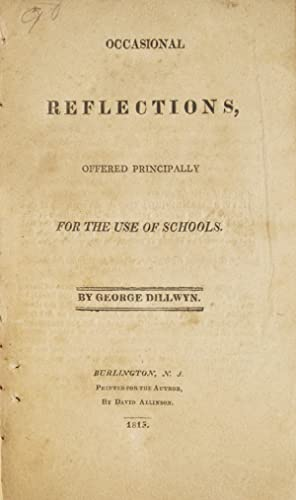 Occasional Reflections, offered Principally for the Use of Schools