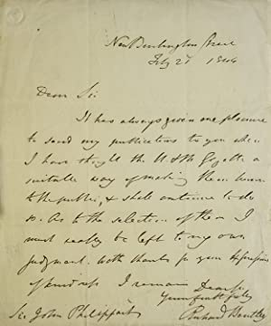 A one-page autograph letter signed