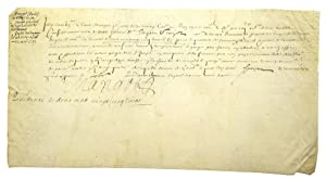 Manuscript document signed