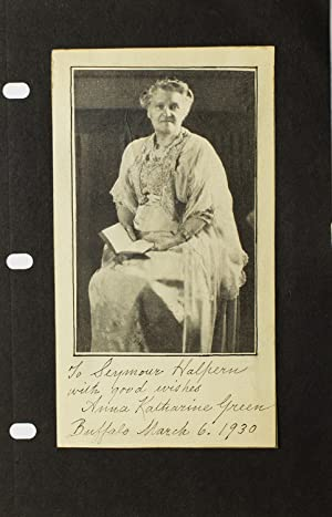 Autograph inscription written under periodical portrait of Green, signed