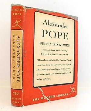Alexander Pope: Selected Works: Pope, Alexander