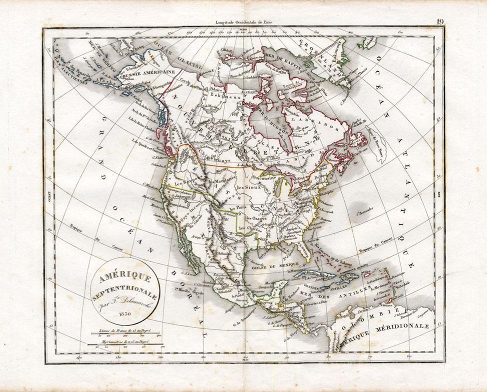 Antique Map-NORTH ...