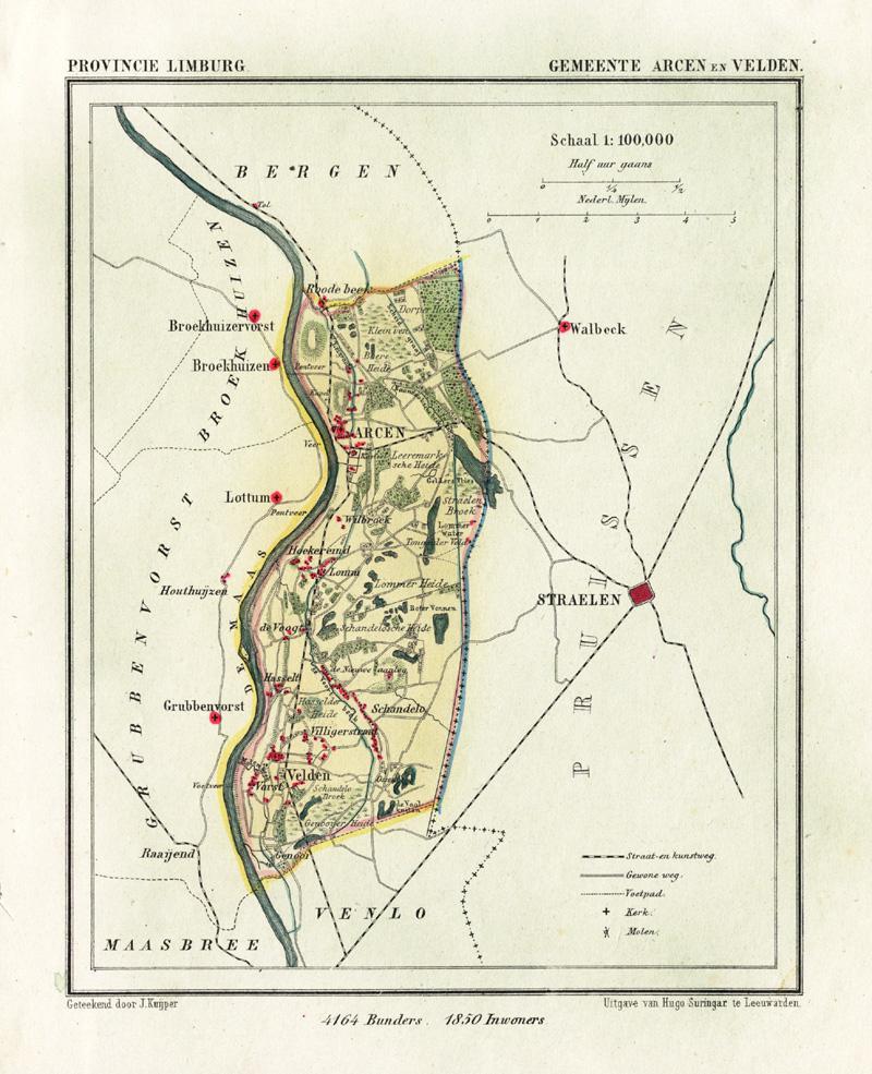 Antique Map-NETHERLANDS-TOWN PLAN-ARCEN EN ...