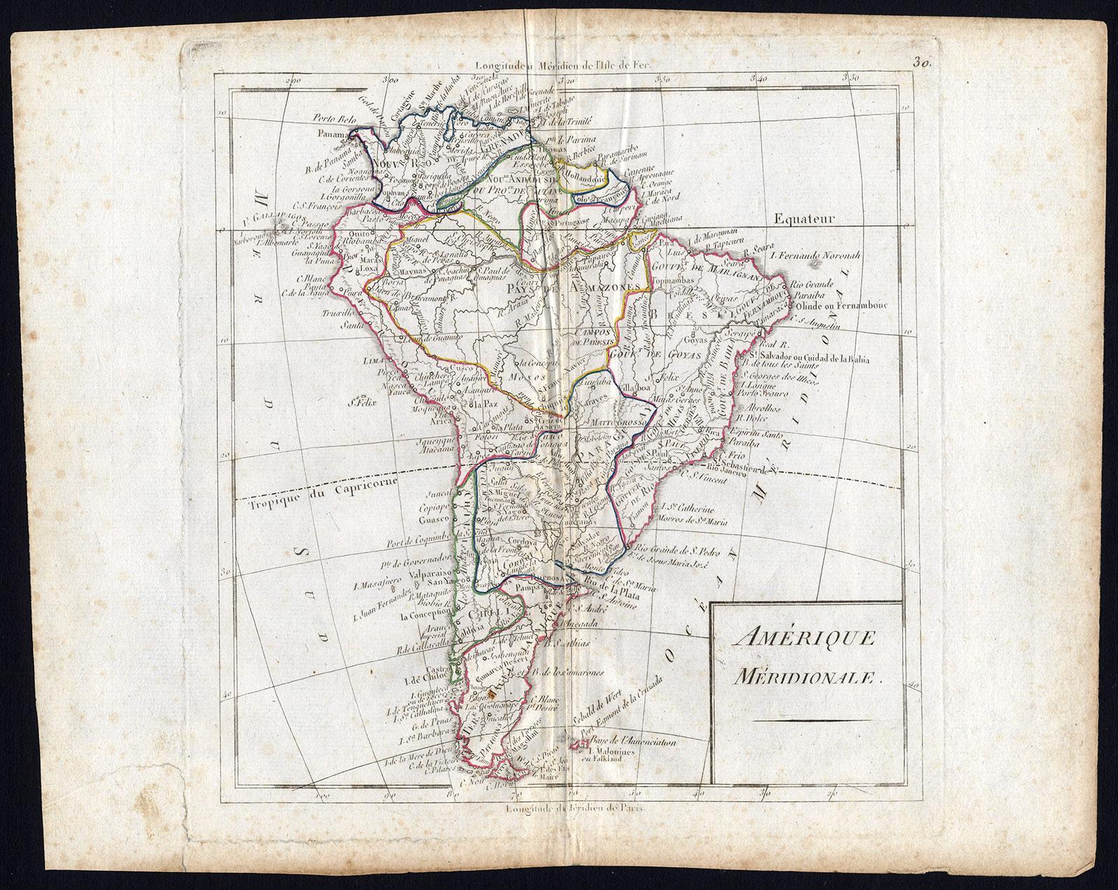 Antique Map-SOUTH AMERICA-Vaugondy-1785   [ ] (bi_22589560340) photo