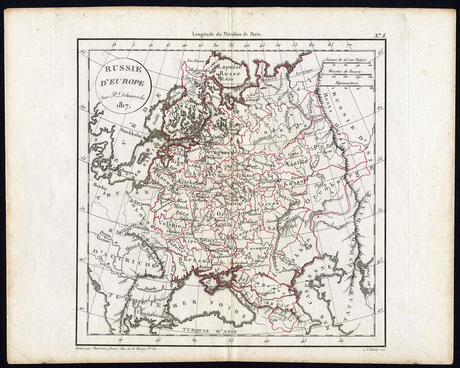 antique map europe russia delamarche 1817: Karten - ZVAB