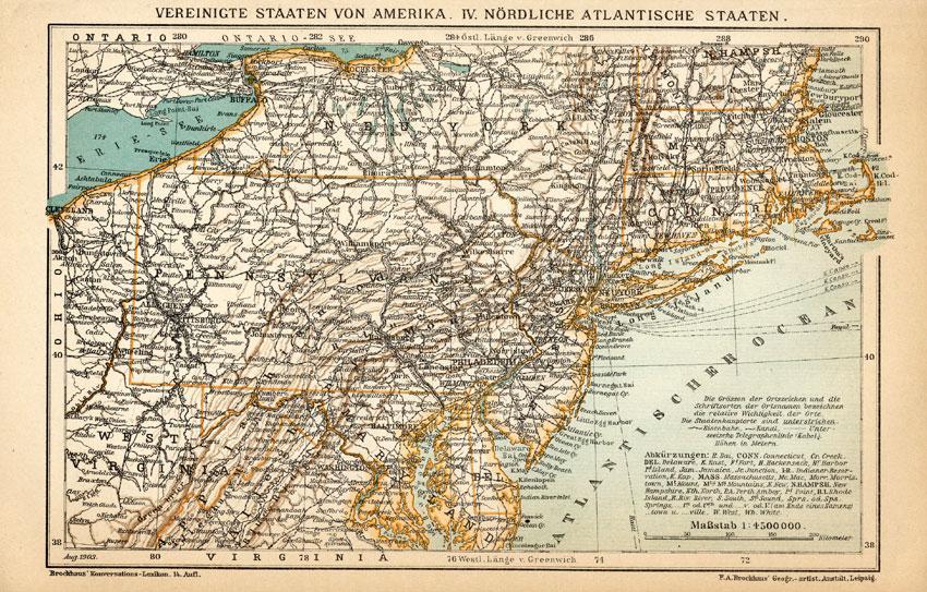 Antique Map-AMERICA-USA-NEW ...
