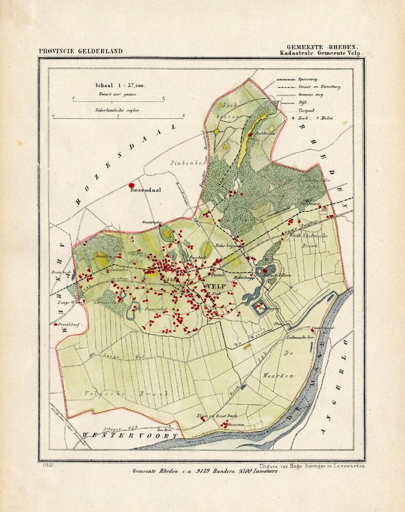 Maps, Atlases & Globes Antique Map-netherlands--brakel-gelderland-kuyper-1865 Europe Maps
