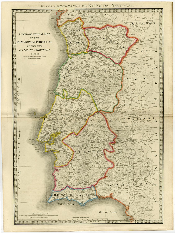 Antique Print-KINGDOM OF PORTUGAL-Wyld-1854