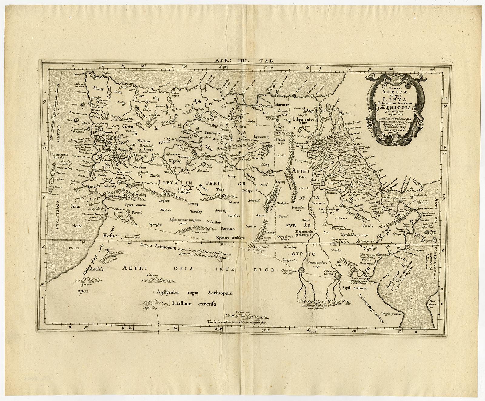 Antique Print-NORTH