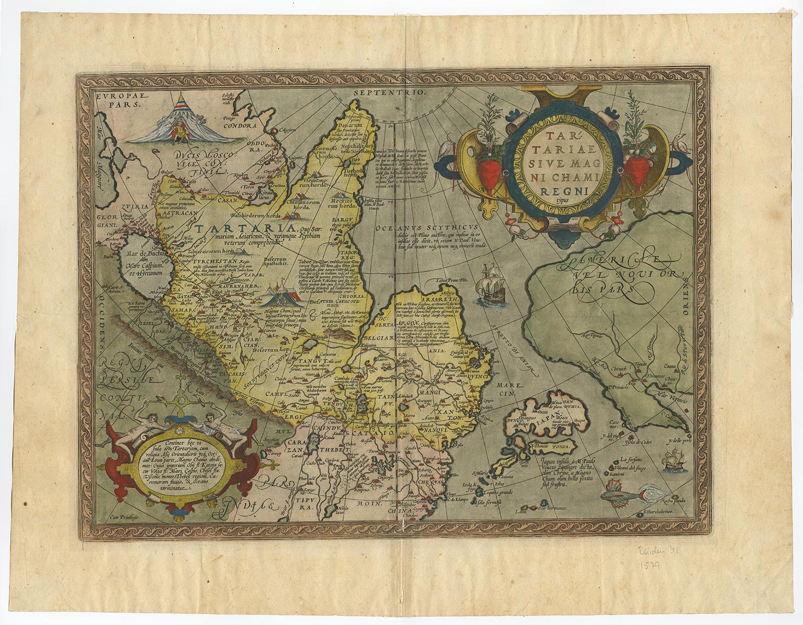 Antique Print-TARTARIAE-ASIA-JAPAN-TARTARY-NORTH AMERICA-Ortelius-c ...
