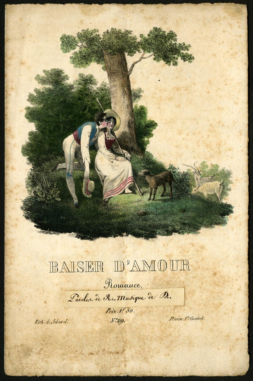 Antique Print-SHEET MUSIC-BAISER