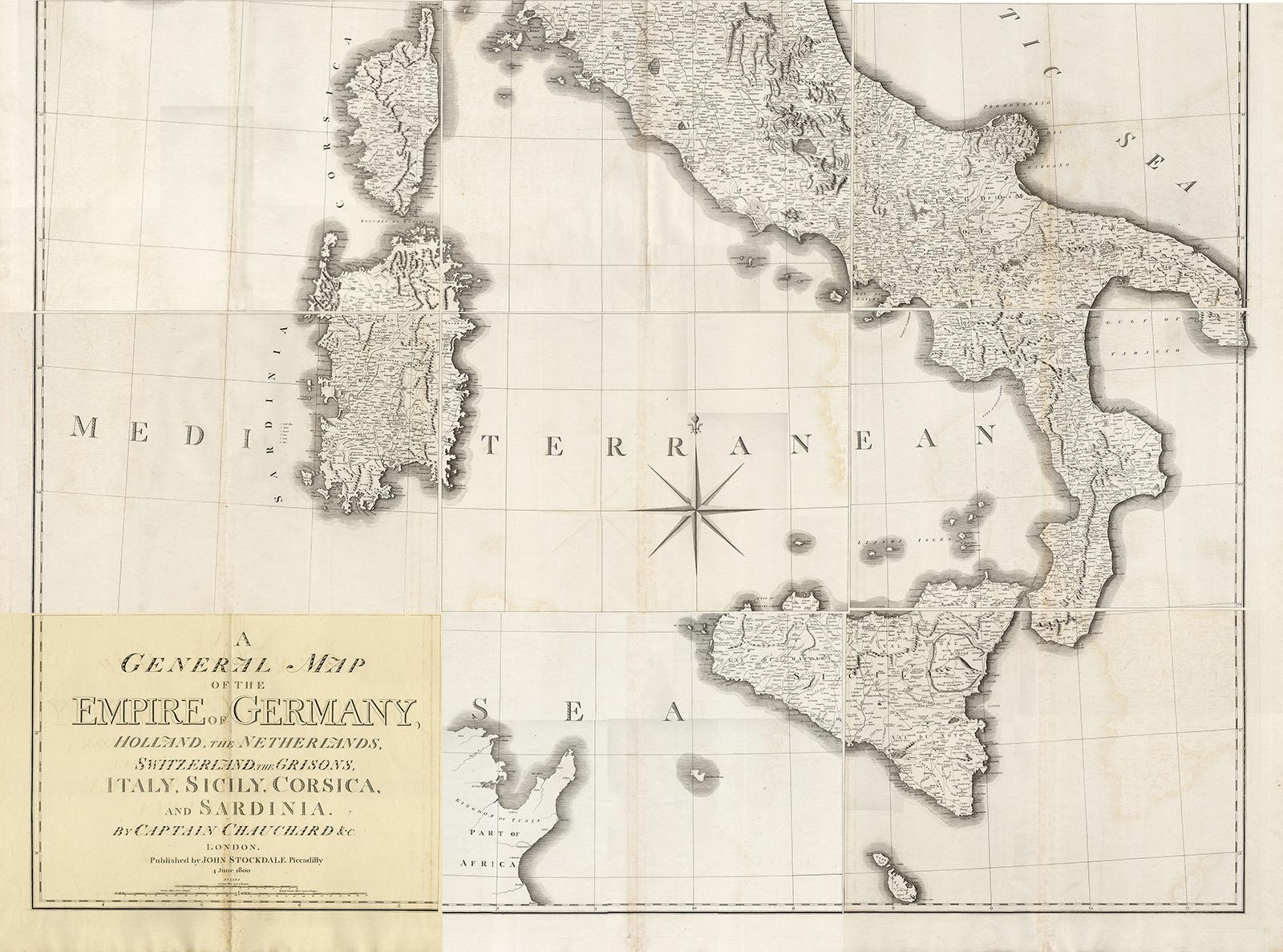 9 Antique Maps Italy Corsica Sicily Stockdale 1800