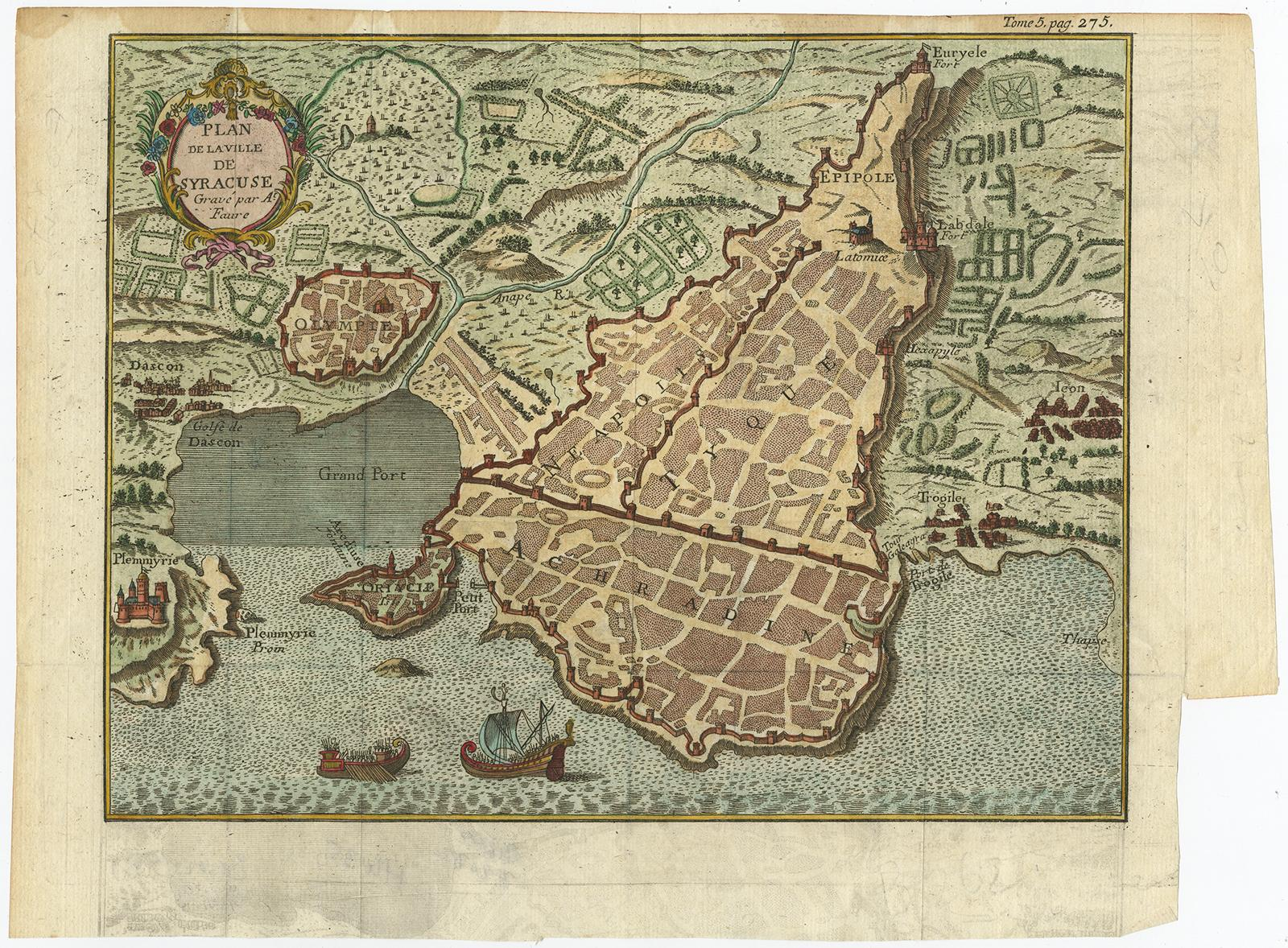 Antique Map Syracuse Sicily Italy Faure C 1750 Theprintscollector