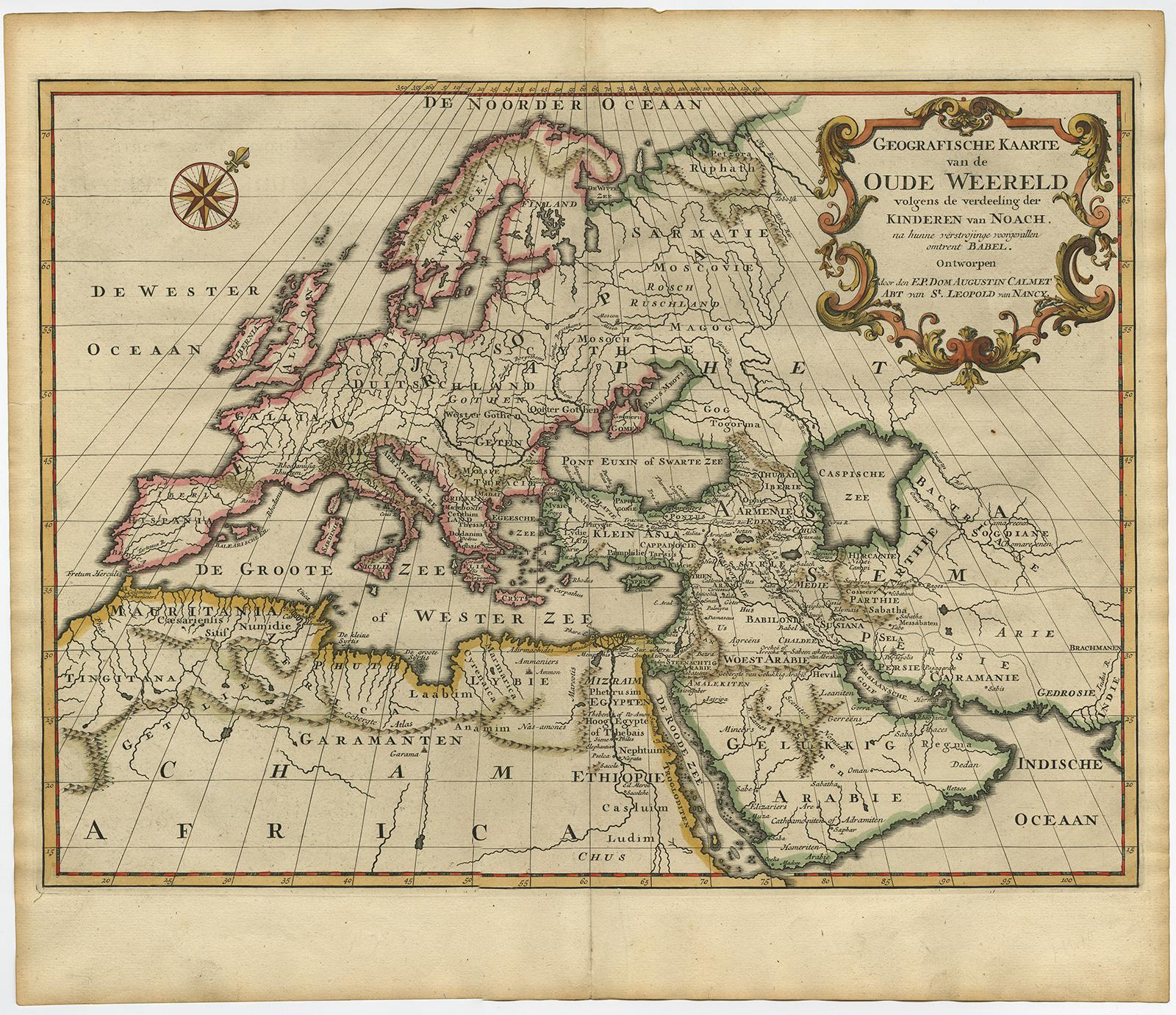 Antique map ancient world europe africa asia calmet c 1725 antique map ancient world europe africa asia calmet c gumiabroncs Choice Image