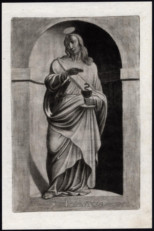 Antique Print-SAINT-JOHN-EVANGELIST-CUP-POISON-Ehinger-Sandrart-1708