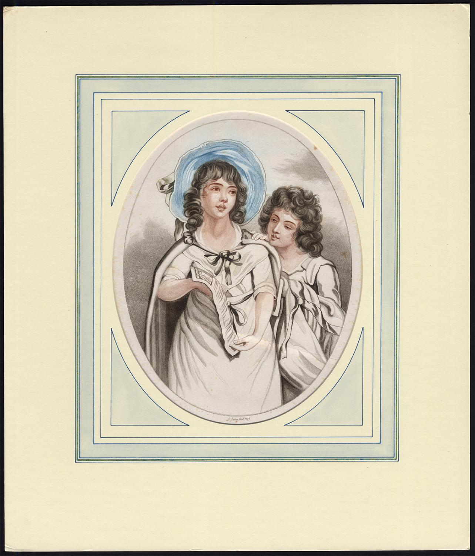 Antique Print-BALLAD SINGERS-SHEET MUSIC-GIRL-John Jones-1779
