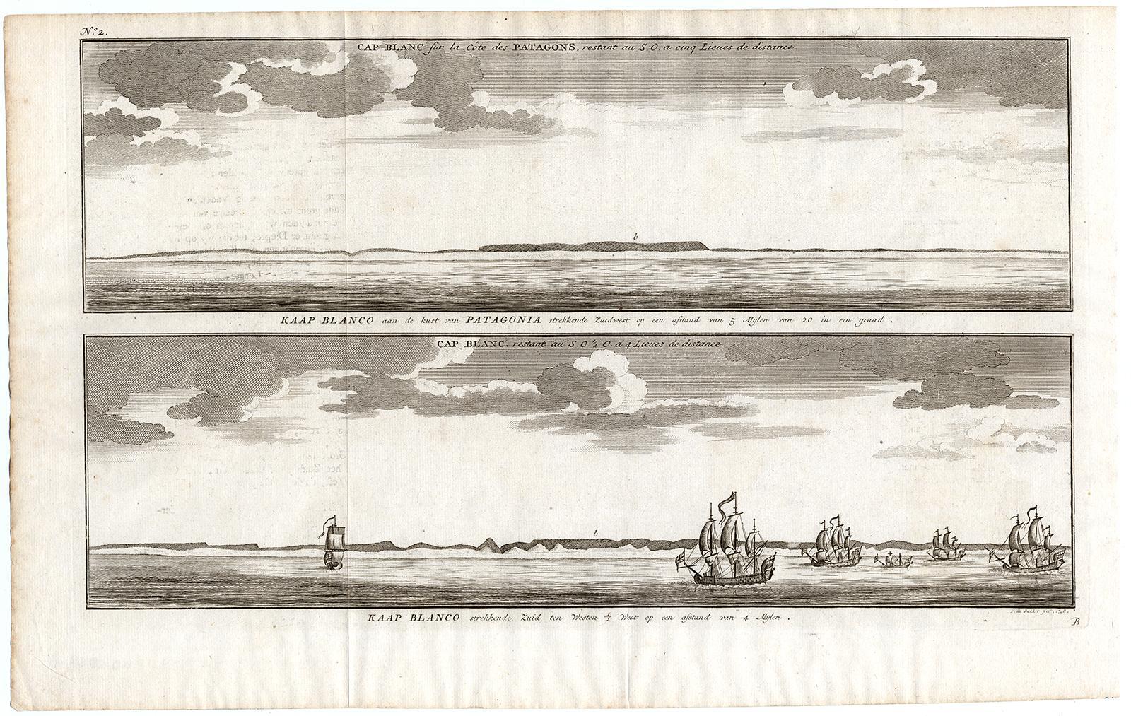 Antique Print-COASTAL VIEWS-CABO BLANCO-CAPE-PATAGONIA-ARGENTINA-Anson
