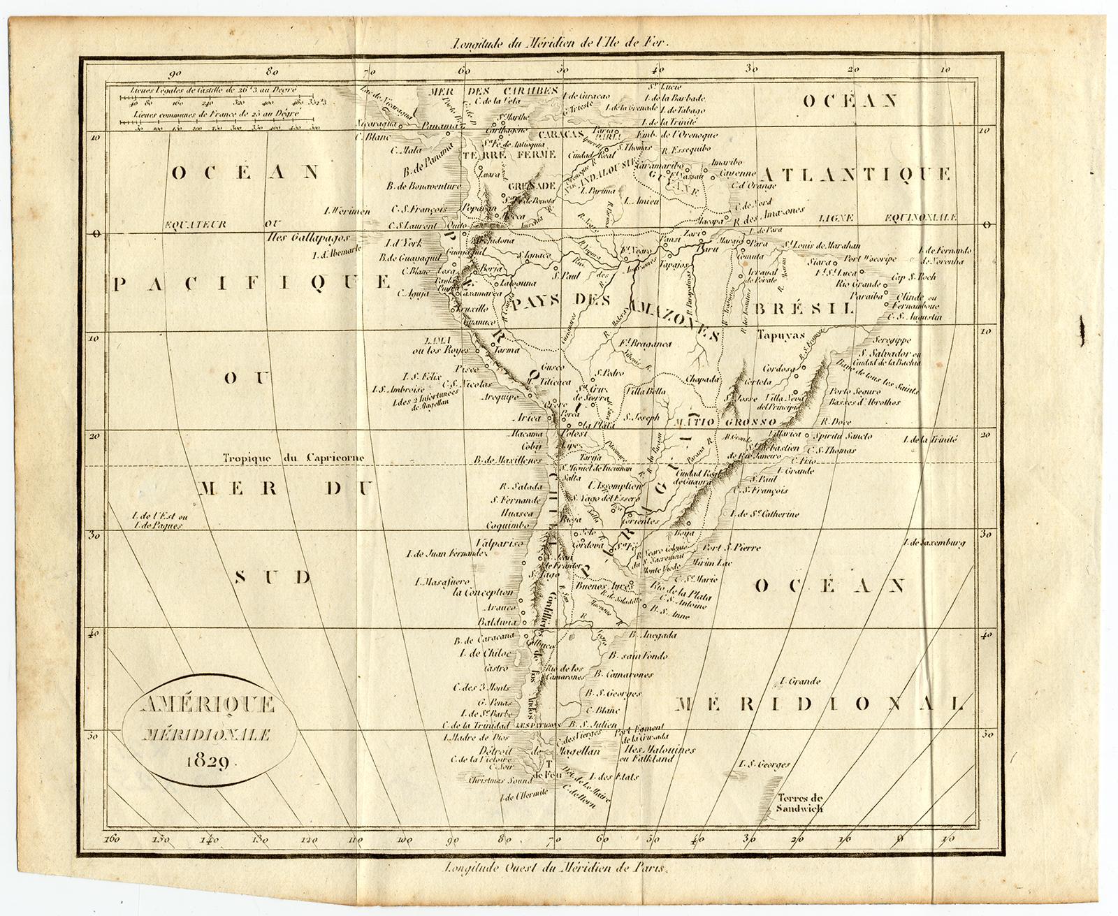 Antique Map-SOUTH AMERICA-Vosgien-Ladvocat-1830   [ ] (bi_22589603041) photo