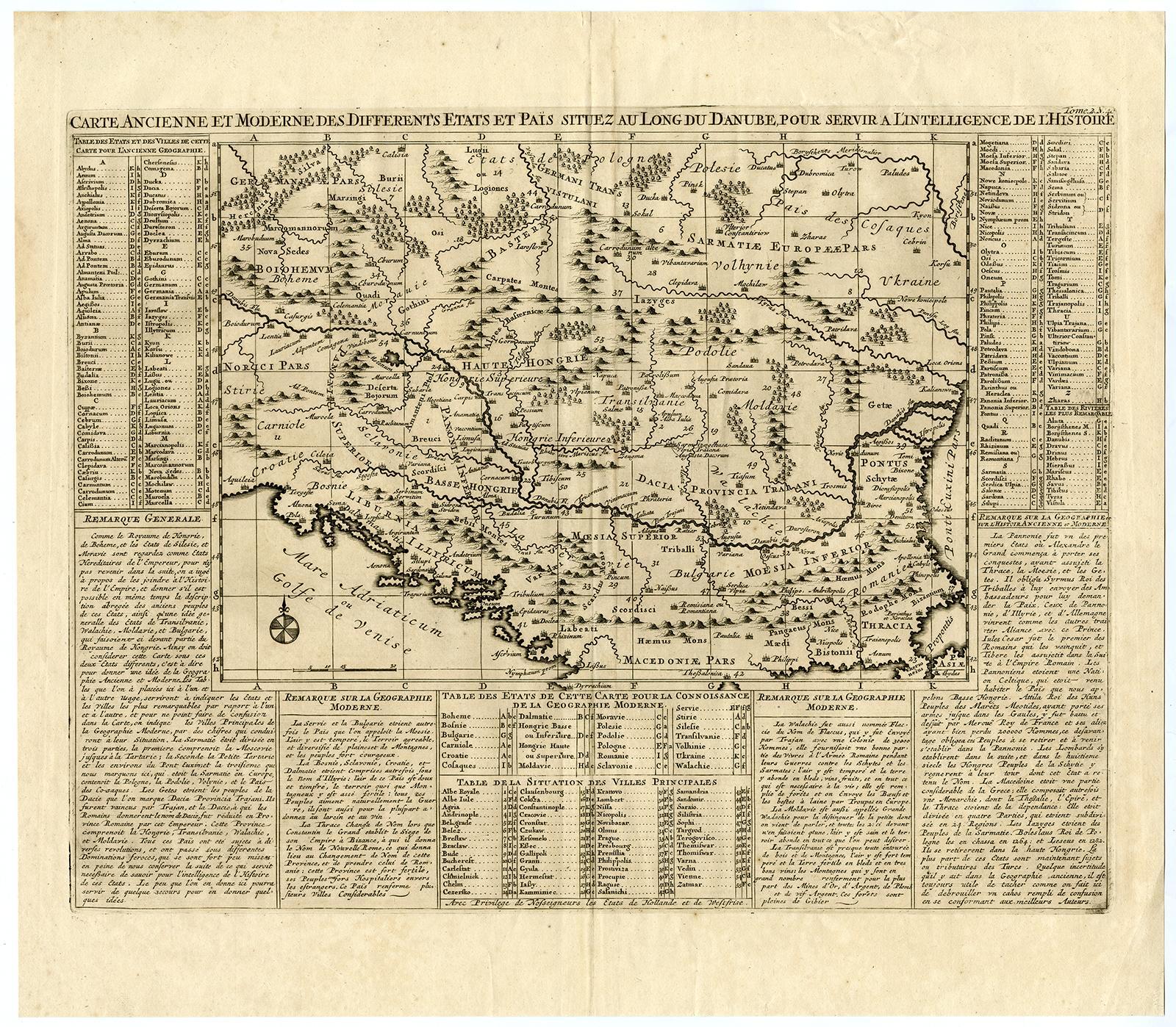 Antique Map-EUROPE-DANUBE-HUNGARY-SLOVENIA-HUNGARY-ROMANIA-Chatelain ...