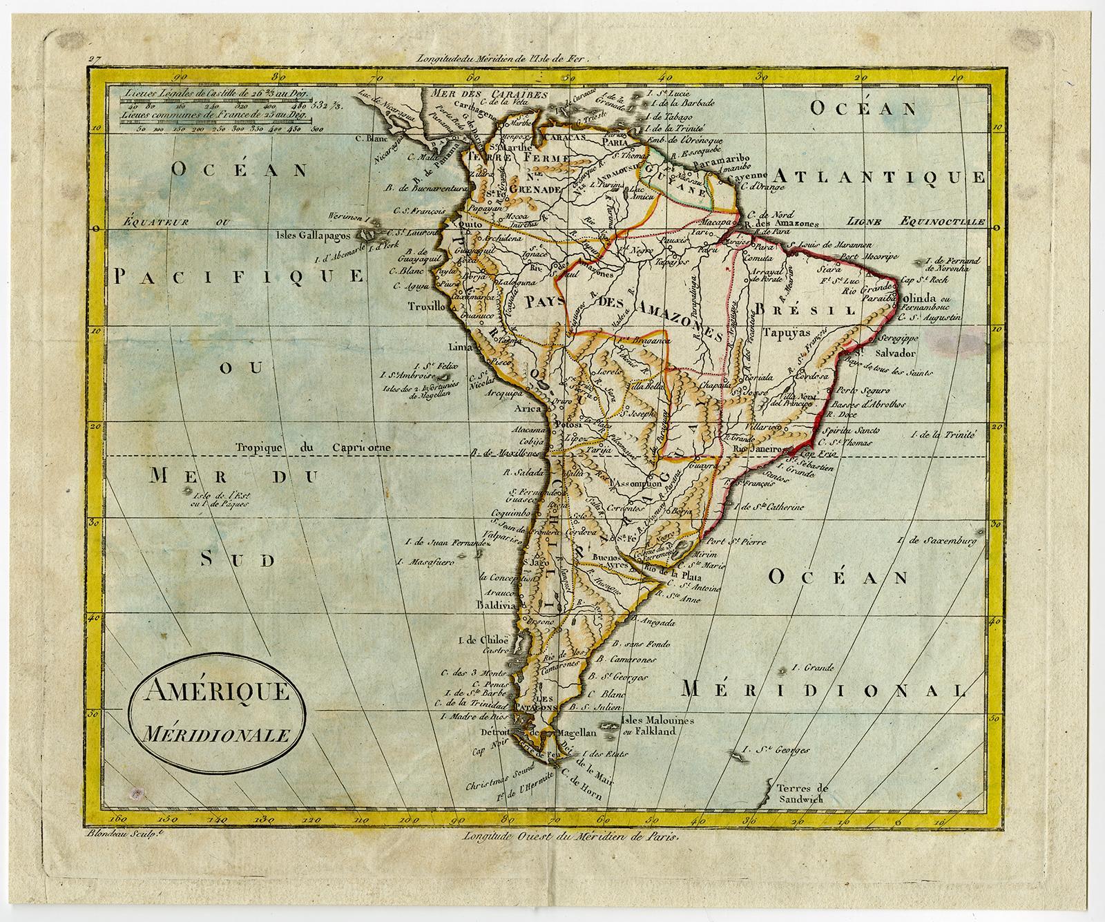 Antique Map-SOUTH AMERICA-Blondeau-1790   [ ] (bi_22589606862) photo