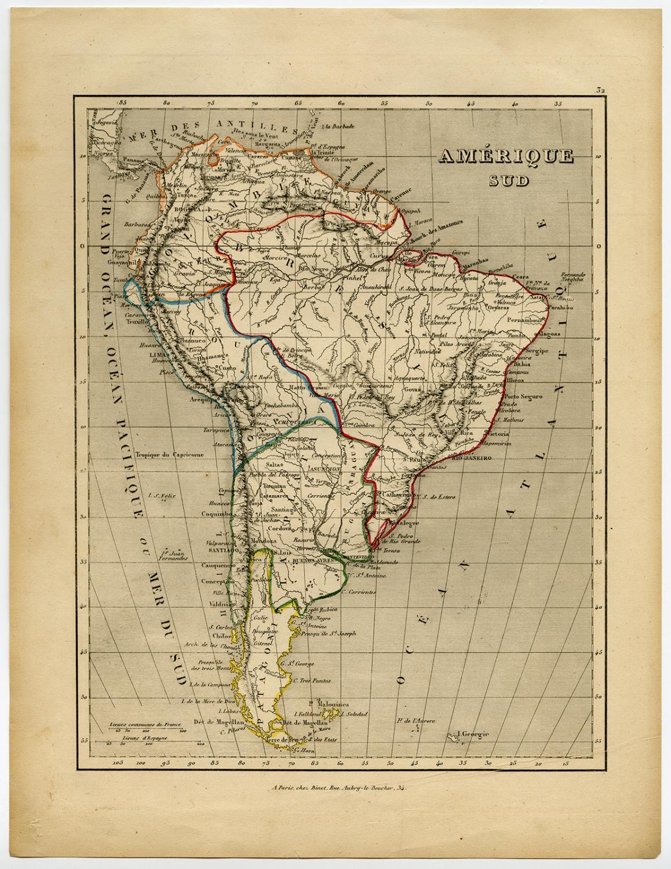 Antique Map-SOUTH AMERICA-Binet-1840   [ ] (bi_22589606863) photo