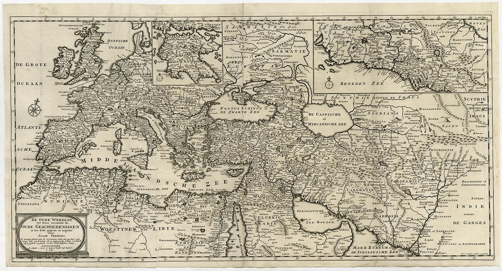 Antique Map-EUROPE-ASIA-MIDDLE ...