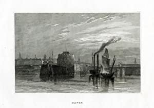 Antique Print-LE HAVRE-FRANCE-SHIP-Meyer-1850