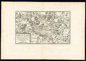 Antique Map-BATTLE-FELUY-ZINNIK-NIVELLE-LE ROEUX-BELGIUM-FRANCE-Beaurain-1776