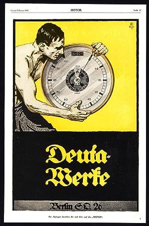Antique Print-ADVERTISING-DEUTA WERKE-SKF-BALL BEARINGS-GERMANY-INDUSTRY-1917