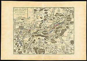 Antique Map-BATTLE-BELGIUM-FELUY-BASSY-NIVELLE-Beaurain-1776