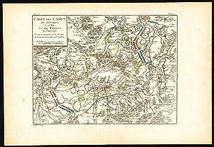 2 Antique Maps-BATTLE-BELGIUM-GIVRY-FELUY-MONS-BERGEN-SOIGNIES-Beaurain-1776