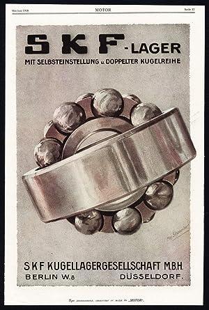 Antique Print-ADVERTISING-SKF-BALL BEARINGS-SCHEU-MACHINE-INDUSTRY-GERMANY-1917
