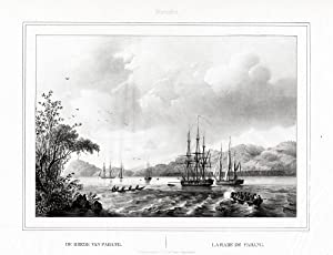 Antique Print-ROADSTEAD-PADANG-SHIPS-SUMATRA-INDONESIA-van de Velde-Lauters-1844