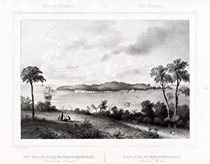Antique Print-BINTAN-RIAU-ROADSTEAD-SHIP-INDONESIA-van de Velde-Lauters-1844