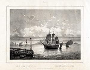 Antique Print-ANJER-SHIP-SUNDA STRAIT-JAVA-INDONESIA-van de Velde-Lauters-1844