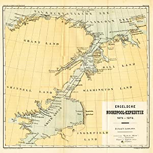 Antique Map-CANADA-NORTH POLE EXPLORATION-GREENLAND-POLAR REGION-Stemler-1880
