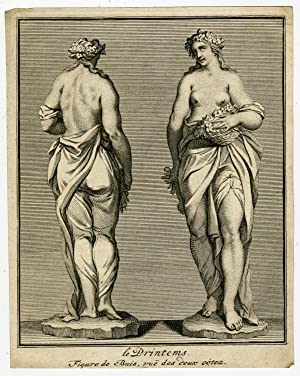 Antique Print-SPRING-PERSONIFICATION-MYTHOLOGY-Graat-Bossuit-Pool-1727