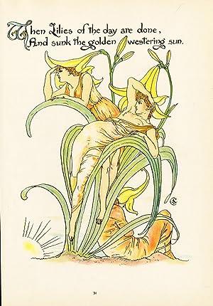 Antique Print-LILIES-LILICEAE-FLOWER-ART DECO-FLORA'S FEAST-Crane-1889
