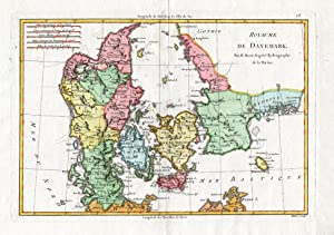 Antique Map-DENMARK-COOK-Bonne-1785