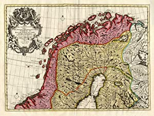 2 Antique Map-SWEDEN-NORWAY-FINLAND-Elwe-1792