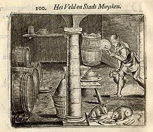 Antique Print-FIELD-HOUSE-MICE-Vondel-Geraerts-1720