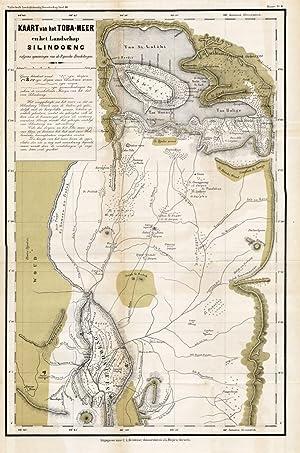 Antique Map-INDONESIA-SUMATRA-LAKE TOBA-Stemler-1875