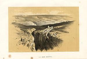 Antique Print-jericho-israel-fenn-cousen-1874 Antiques Maps, Atlases & Globes