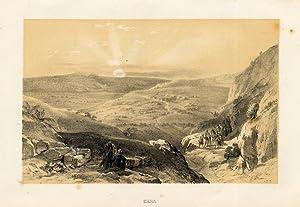 Antiques Art Prints Antique Print-jericho-israel-fenn-cousen-1874