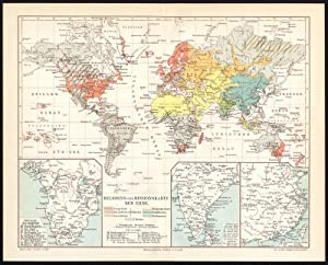 World Maps Bright Antique Map-climate-temperature-world Map-meyers-1895
