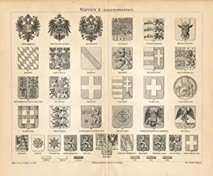 Antique Prints-HERALDRY-AUSTRIA-TIROL-Meyers-1895