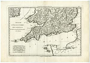 Antique Print-ENGLAND-CORNWALL-GUERNSEY-GREAT BRITAIN-Bonne-c.1780