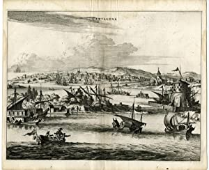 Antique Print-CARTAGENA-COLOMBIA-Montanus-1671